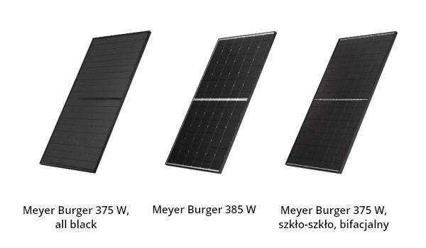 Serie modułów Meyer Burger: all black; 385 Wp; szkło-szkło, bifacjalny